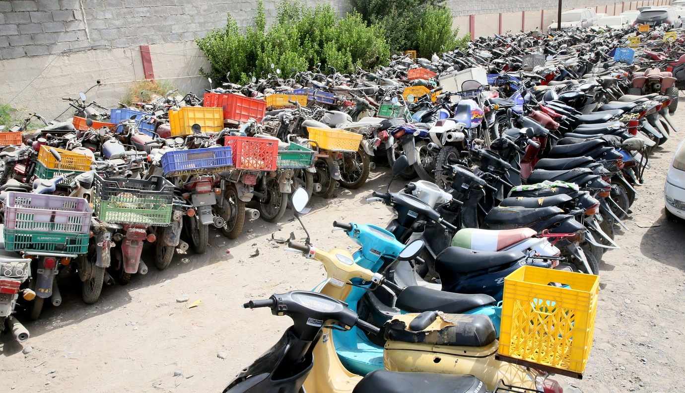 Ras Al Khaimah Police seize 51 motorcycles in one day.