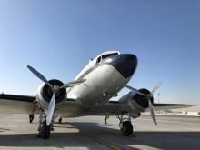 Flying back in time in a Breitling DC-3