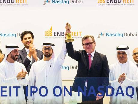 enbd reit scales to top gainer position on listing day