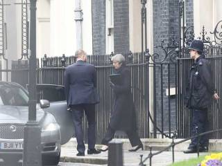 Watch: May's London attack escape