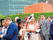 Rainy skies fail to dampen spirits at Meydan