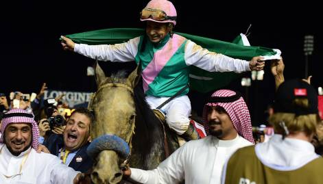 Winning horses at  Dubai World Cup 2017