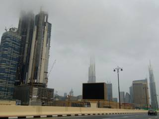 When will rainy conditions end in UAE?