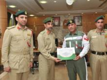 Cop who directed traffic during rain honoured