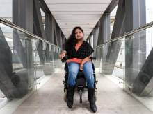 Writer on wheel chair rates Dubai accessibility