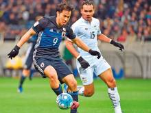 Okazaki nets Japan 50th in 4-0 rout of Thailand