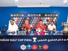 Al Ahli coach Cosmin Olaroiu (second from left) addresses the Arabian Gulf Cup Final press conference in Al Nasr Club, Dubai.
