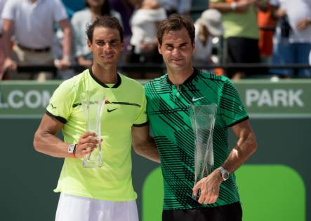 Federer beats Nadal in straight sets in Miami