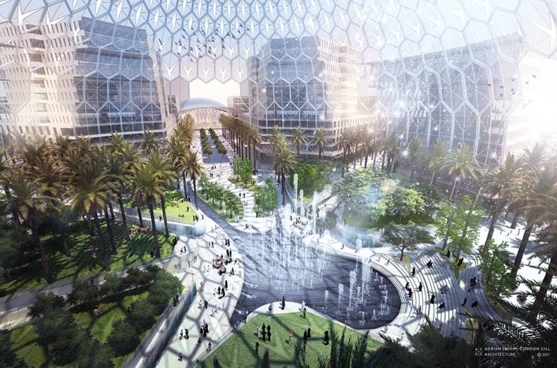 an-artists-impression-of-the-al-wasl-plaza-a-central-hub-for-the-expo-2020-venue