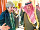 Britain's May heads to Riyadh seeking deals
