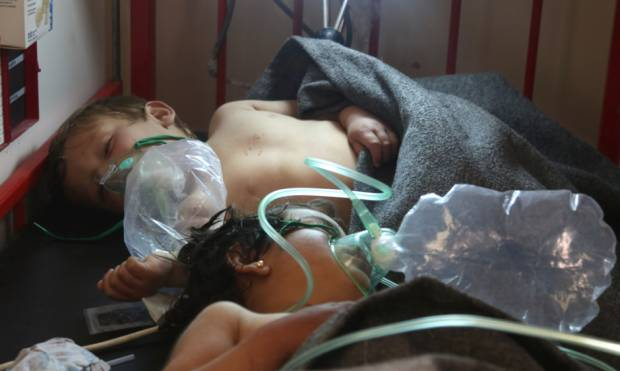 Scenes of death after the gas attack in Syria