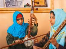Girls help preserve Sufi traditions