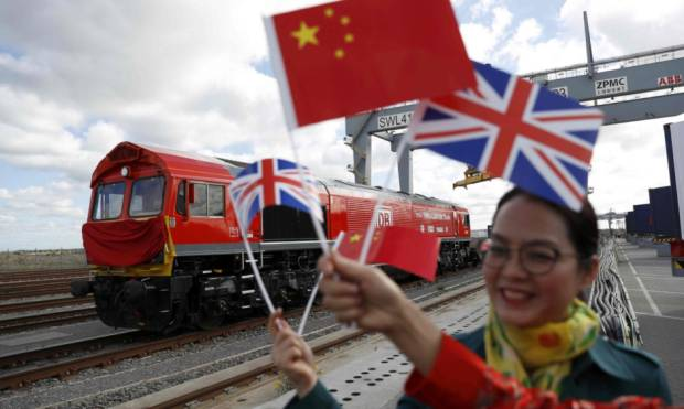 First 'Silk Road' train leaves UK for China