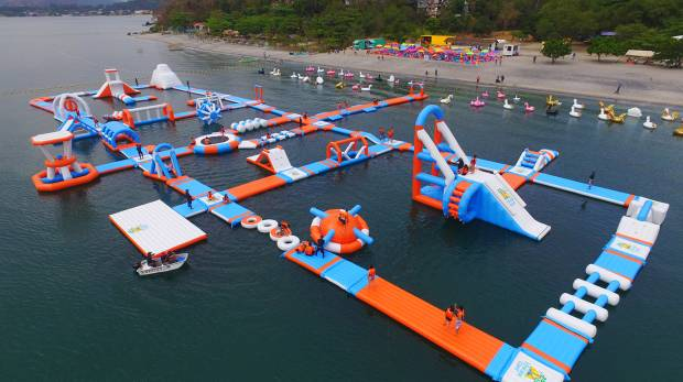 visit inflatable island asia s largest floating water theme park