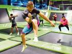 Flippin' Fit session involves a lot of bouncing, making for some serious airtime fun.