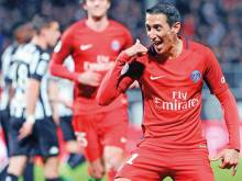 Di Maria double keeps PSG in the hunt