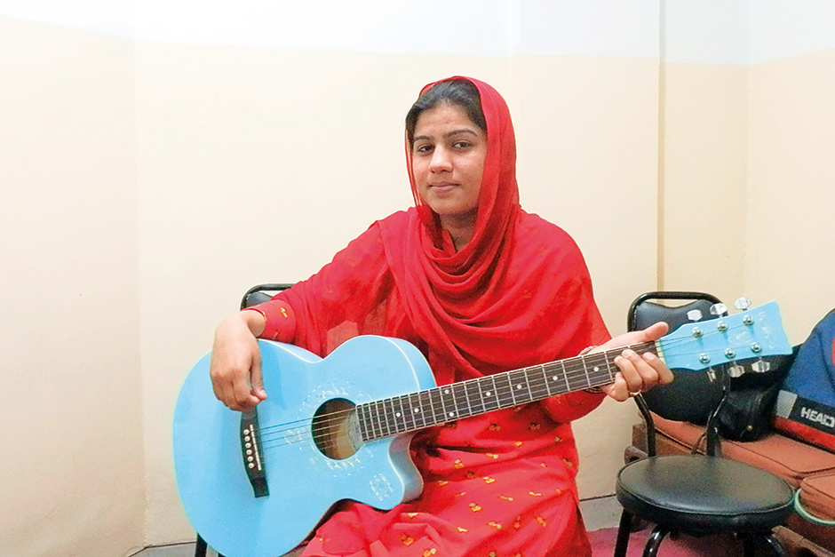 Singer and guitarist Irum Shahzadi
