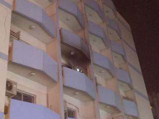 Blaze hits Sharjah apartment building
