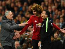 Fellaini sent off as City and United draw