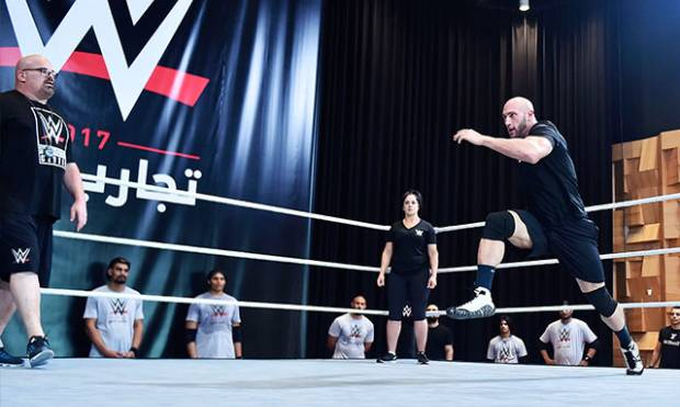 WWE hopefuls in Dubai
