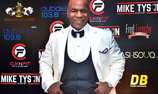 Boxing legend Mike Tyson in Dubai
