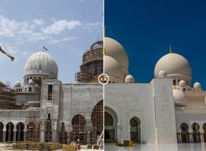 Before and After: Shaikh Zayed Grand Mosque