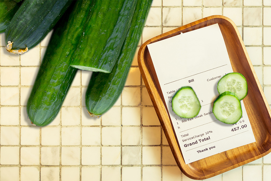 cucumber as payment