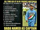 Ganguly captain of best Champions Trophy XI