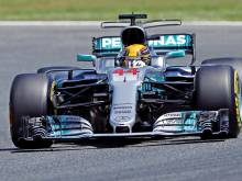 Hamilton 'super proud' to win pole in Spain
