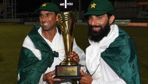 Pakistan wins its 1st test series in Caribbean