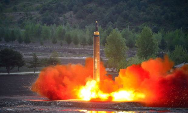 Pics: North Korea's latest missile launch