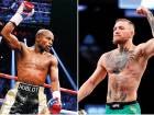Floyd Mayweather Jr (left) has hinted about wanting to end his retirement and trying to extend his perfect record to 50-0 against Conor McGregor, who has a 21-3 win-loss record in the UFC.