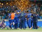 Mumbai Indians celebrate after winning the Indian Premier League final against Rising Pune Supergian