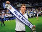 Real Madrid's Cristiano Ronaldo celebrates after winning a Spanish La Liga soccer match between Malaga and Real Madrid in Malaga, Spain, Sunday, May 21, 2017.