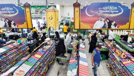 In Pictures: Stocking up for Ramadan