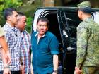 Philippine President Rodrigo Duterte during his visit yesterday to address troops battling Daesh-linked insurgents who lay siege to Marawi city, on the outskirts of Iligan city.