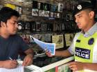 A total of 140 brochures, in different languages, containing safety and security tips to secure the premises, were distributed among shop owners.