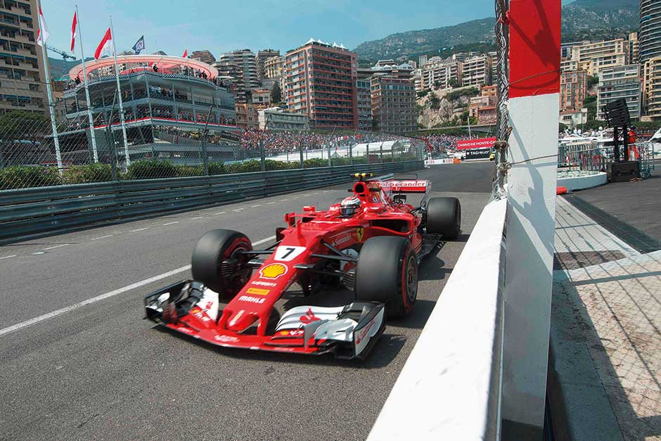 Raikkonen takes Monaco pole for Ferrari