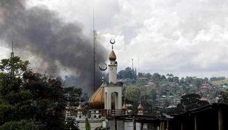 Philippines' most beautiful Muslim city burns