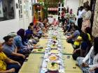 Nursery children join women workers for iftar