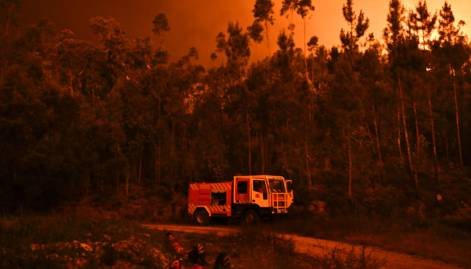 Forest fire in Pedrogao Grande photos