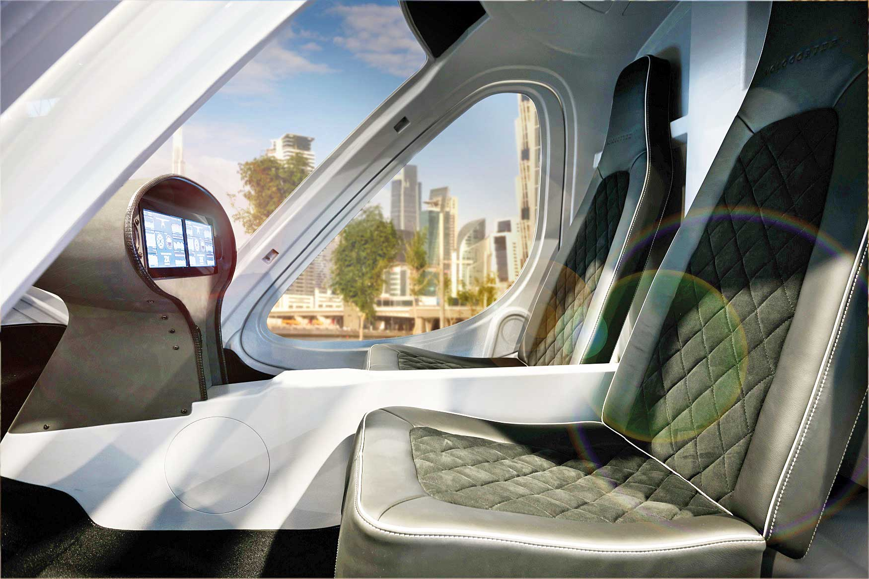 Inside the air taxi of the German Volocopter Co.