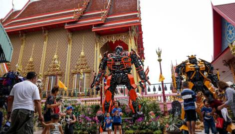 Superheroes save Thai temples