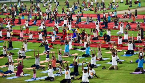 Thousands of UAE residents celebrate Yoga Day