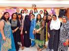 Women workers and members of the Indian Ladies Association during the iftar get-together in Abu Dhabi on Tuesday evening.