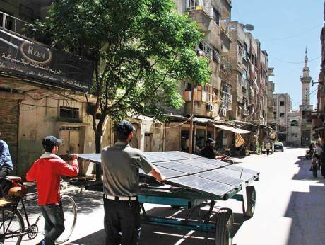 Solar solution brings water to besieged Syria town
