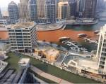 Why did Dubai Marina turn red?