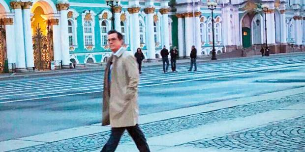 Stephen Colbert goes to Russia on assignment