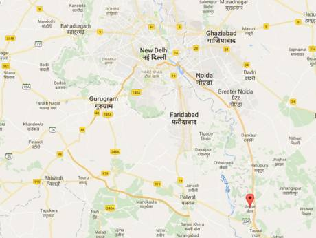 India clears plan for 31b second airport near delhi gulfnews image credit courtesy google maps gumiabroncs Choice Image