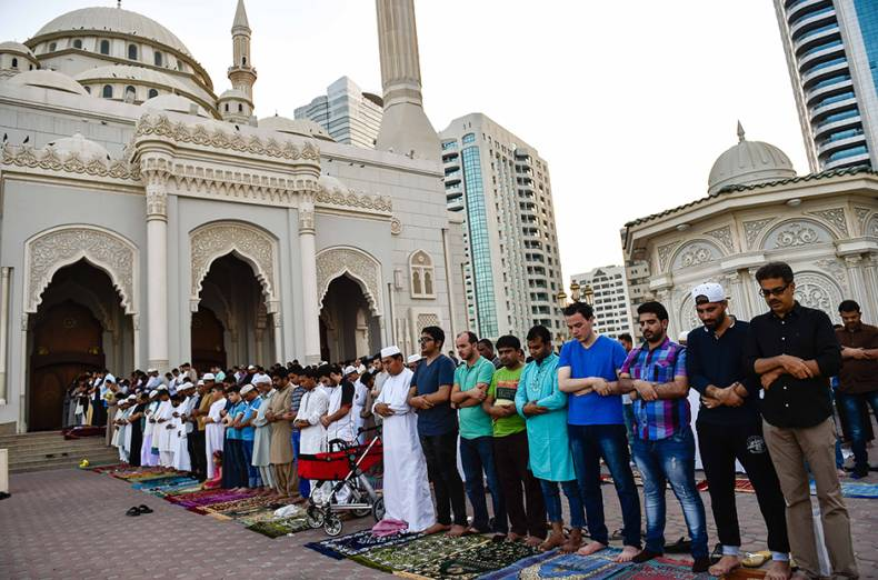 residents-gather-in-prayer-at-a-mosque-in-sharjah